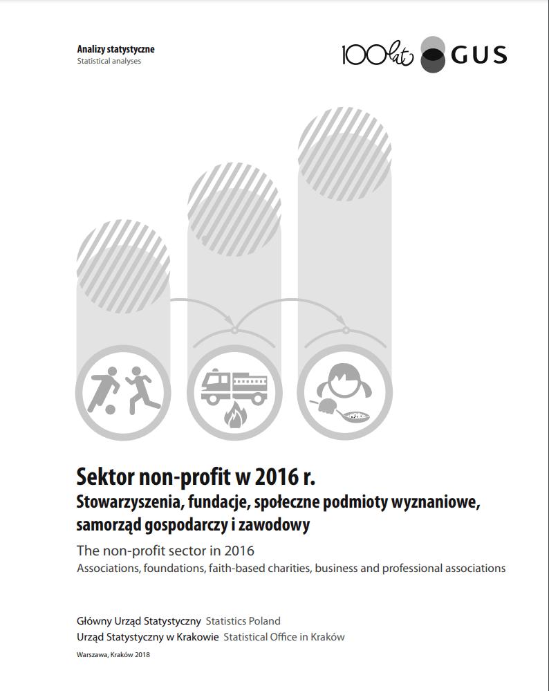 Sektor non-profit w 2016 r.: stowarzyszenia, fundacje, społeczne podmioty wyznaniowe, samorząd gospodarczy i zawodowy